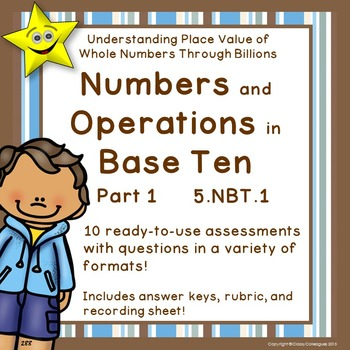 Math Numbers and Operations in Base Ten, Grade 5, Part 1