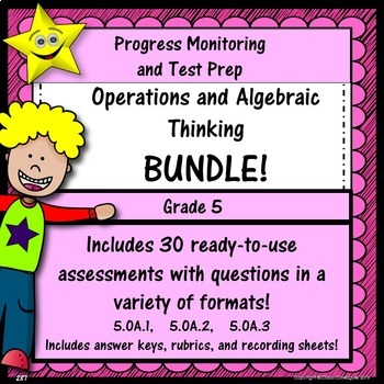 Math Operations and Algebraic Thinking Bundle, Grade 5