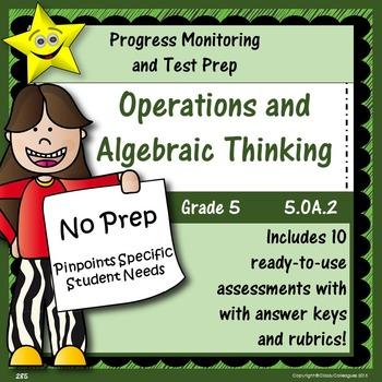Math Operations and Algebraic Thinking, Grade 5, Part 2