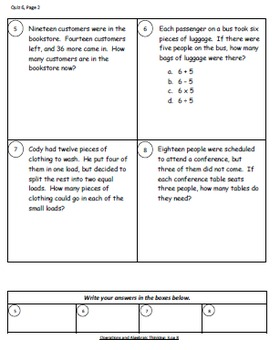 Math Operations and Algebraic Thinking Quizzes, part 5