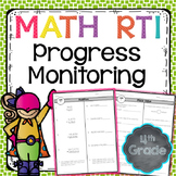 RTI Math Progress Monitoring - 4th Grade