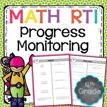 RTI Math Progress Monitoring - 4th Grade