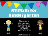 RTI Math for Kindergarten