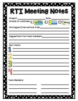 RTI Meeting Form