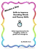 RTI:  Minutes a Day Decoding and Fluency Builder for Strug