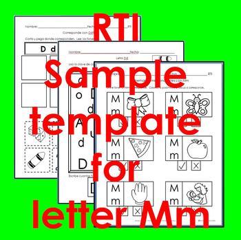 "RTI Mm ""fonema"" correspondiente activities set of 3"