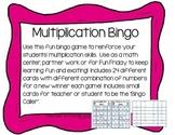 RTI Multiplication Bingo Game Fact Fluency Practice