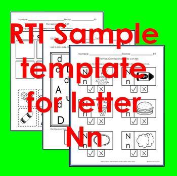 "RTI Nn ""fonema"" correspondiente activities set of 3"