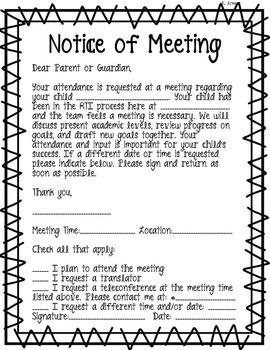 RTI Notice of Meeting