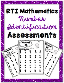 RTI Number Identification Math Intervention Progress Monit