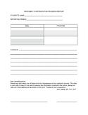 RTI Parent Communication Form