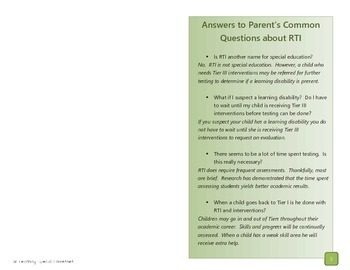 RTI Parent Preview