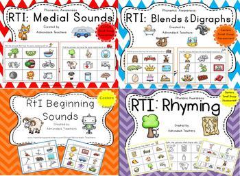 RTI : Phonemic Awareness BUNDLE