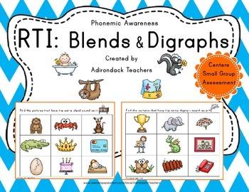 RTI : Phonemic Awareness Blends and Digraphs