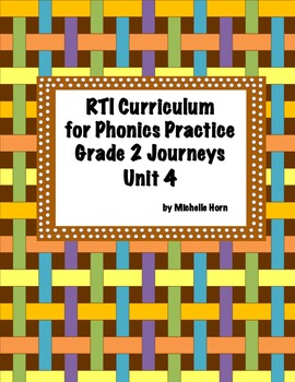 RTI Phonics for Journeys Grade 2 Unit 4