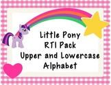 RTI Pony Alphabet Upper and Lowercase Letter Naming and Le