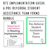 RTI Implementation Guide & Pre-Referral Student Assistance Team Forms