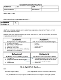 RTI Problem Solving Form