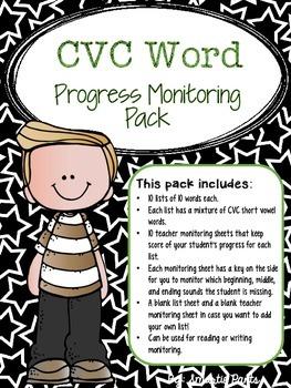 RTI: Progress Monitoring CVC Words