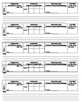 RTI Progress Monitoring Form Two