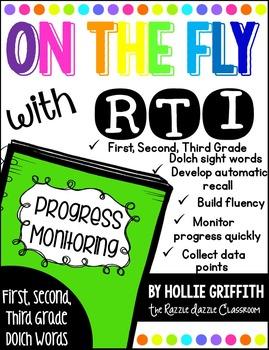 RTI Progress Monitoring: Sight Words {First, Second, Third