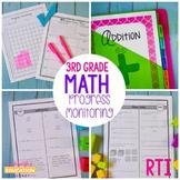 Third Grade RTI Math Progress Monitoring-RTI Probes