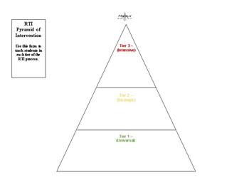 Rti Pyramid Worksheets Teaching Resources Teachers Pay Teachers