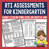 RTI Reading Assessments for Kindergarten