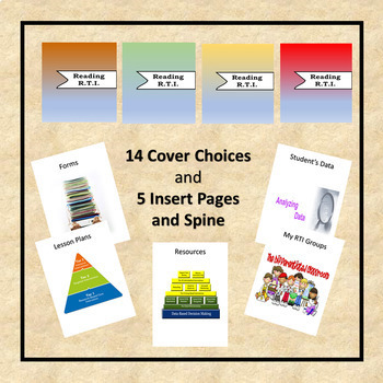 RTI Reading Binder Covers and Insert Pages