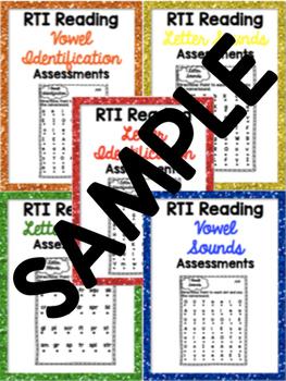RTI Reading Intervention Progress Monitoring FREE SAMPLE