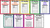 RTI Reading & Math Intervention Progress Monitoring BUNDLE