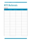 RTI Referral Table with Scores
