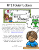 RTI (Response To Intervention) Folder Labels