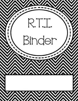RTI (Response to Intervention) Binder Cover and Spine