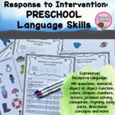RTI Kindergarten Preschool Assessment Response to Intervention