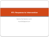 RTI Response to Intervention Power Point for Teachers
