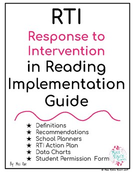 RTI  Response to Intervention in Reading Implementation Guide