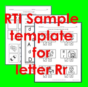 "RTI Rr ""fonema"" correspondiente activities set of 3"