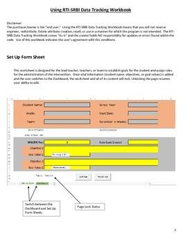 RTI SRBI Excel / Google Data Tracking Workbook