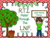 RTI September Letter Naming Fluency ~ LNF