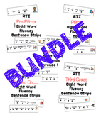 RTI Sight Word Fluency Sentence Strips BUNDLE {219 sentences}