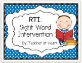 RTI: Sight Word Intervention