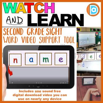 RTI Sight Word Tool | Video Resource | 2nd Grade | Name