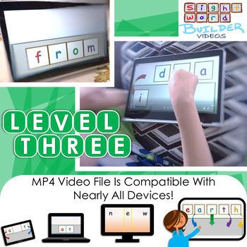 RTI | Third Grade Sight Word Fluency Tool | White