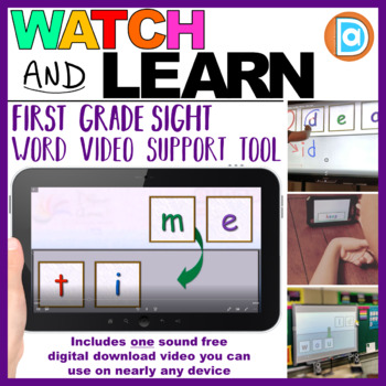 RTI Sight Word Tool | Video Resource | Kindergarten | Time