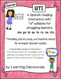 RTI Spanish Reading Intervention A Syllables - Intervención de Lectura Sílabas A