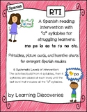 RTI Spanish Reading Intervention A Syllables - Intervenció