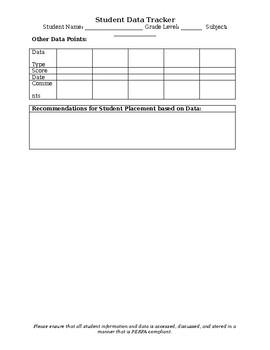 RTI Student Data Tracker