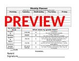 RTI - Student Weekly Planner & Grade Tracker