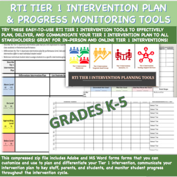 RTI Tier 1 Progress Monitoring Forms (ES)